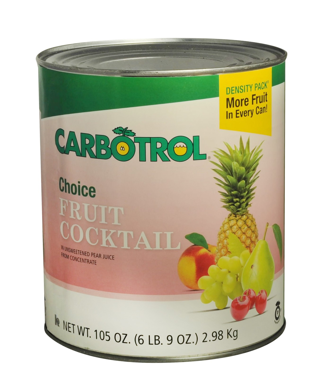 Carbotrol #10 Juice Packed Canned Fruit, Fruit Cocktail (1- 105oz Can)