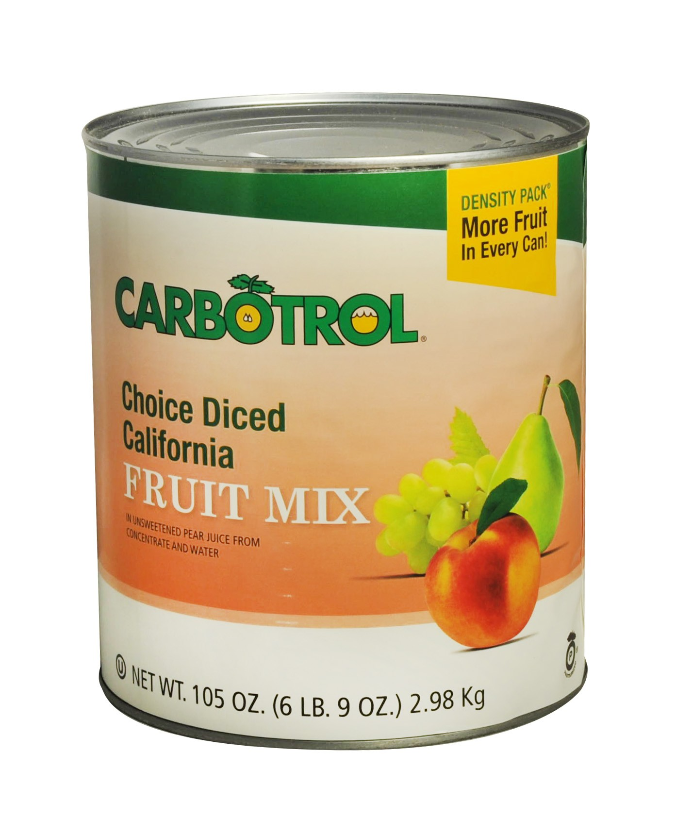 Carbotrol #10 Juice Packed Canned Fruit, California Fruit Mix (1 - 105oz Can)