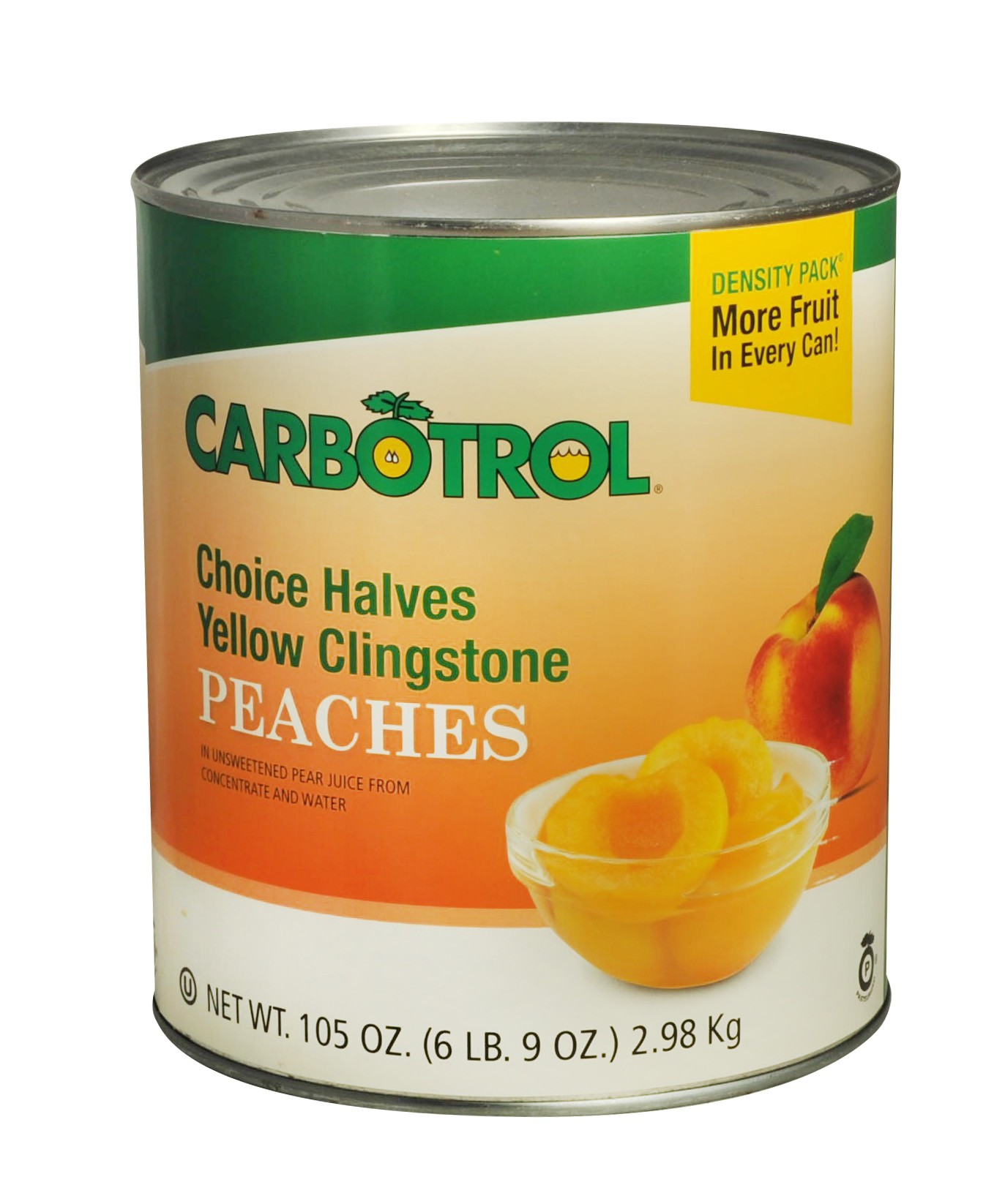 Carbotrol #10 Juice Packed Canned Fruit, Peach Halves (1- 105oz Can)