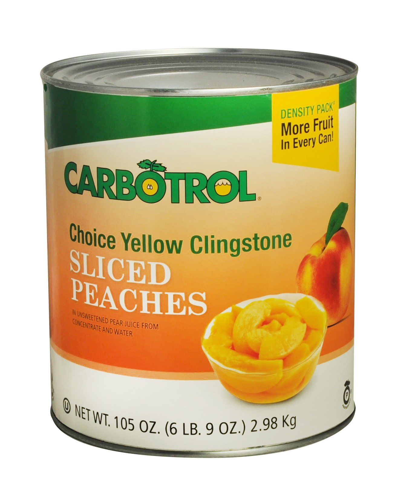 Carbotrol #10 Juice Packed Canned Fruit, Sliced Peaches (1 - 105oz Can)
