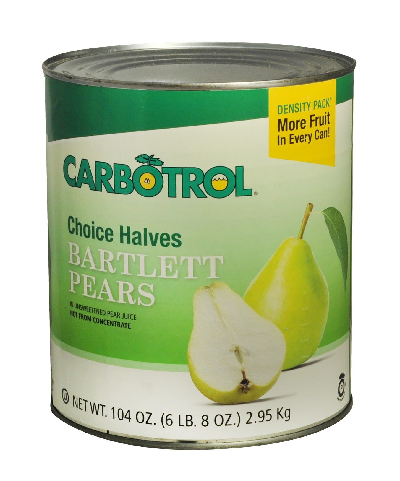 Carbotrol #10 Juice Packed Canned Fruit, Pear Halves (1 - 104oz Can)