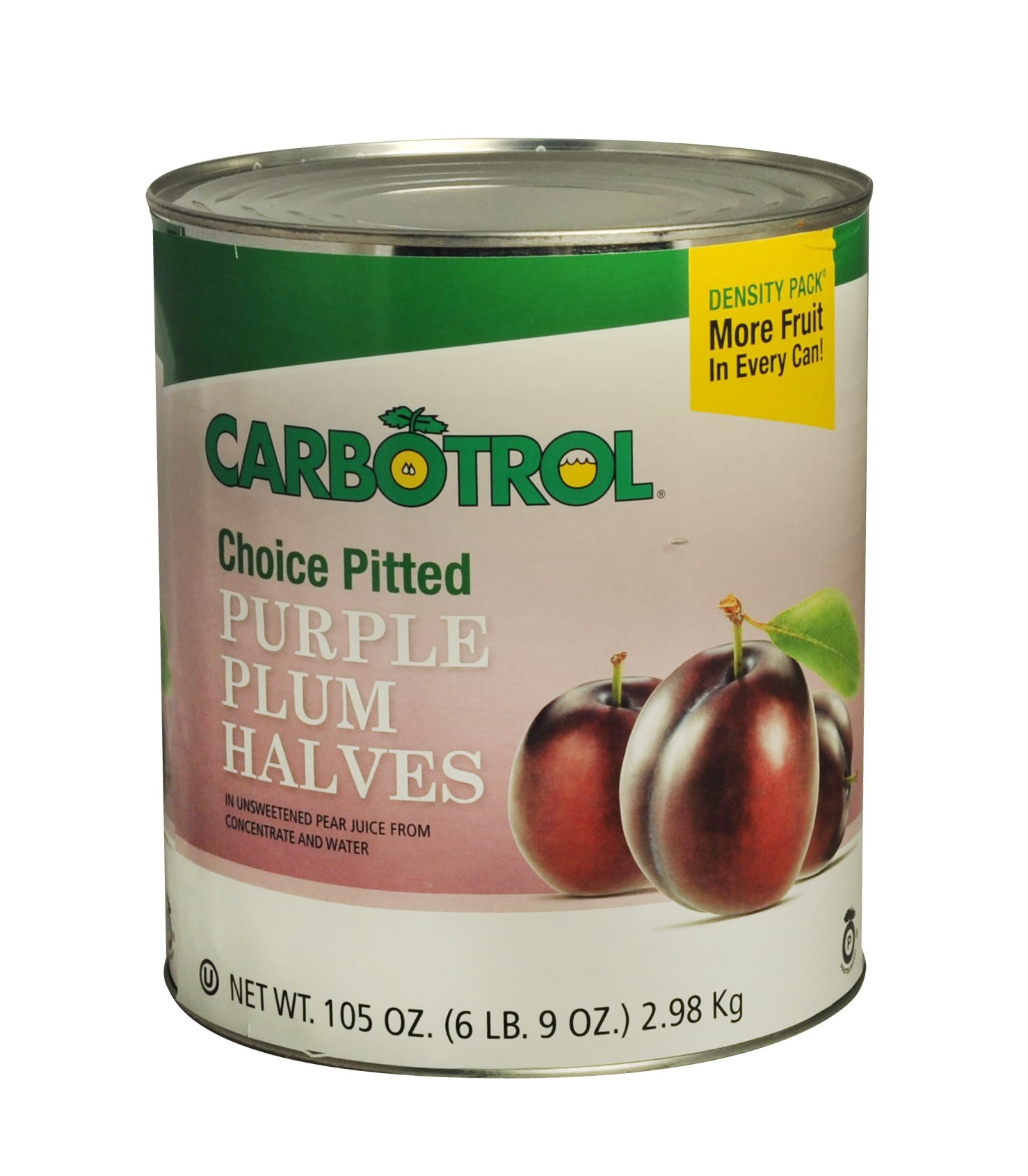 Carbotrol #10 Juice Packed Canned Fruit, Plum Halves (1 - 105oz Can)