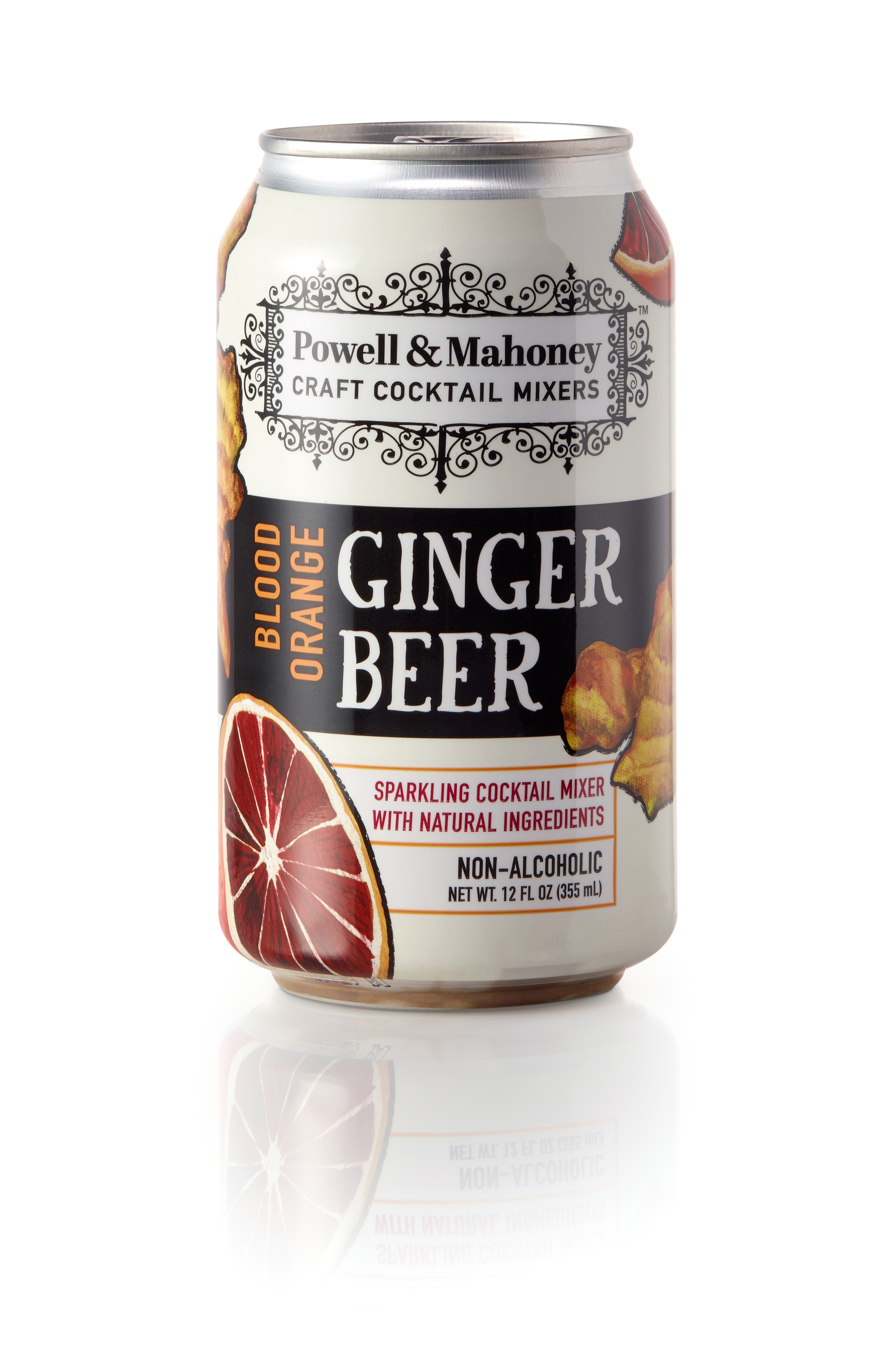 Powell & Mahoney Blood Orange Ginger Beer (12oz Can) - 4 pack case
