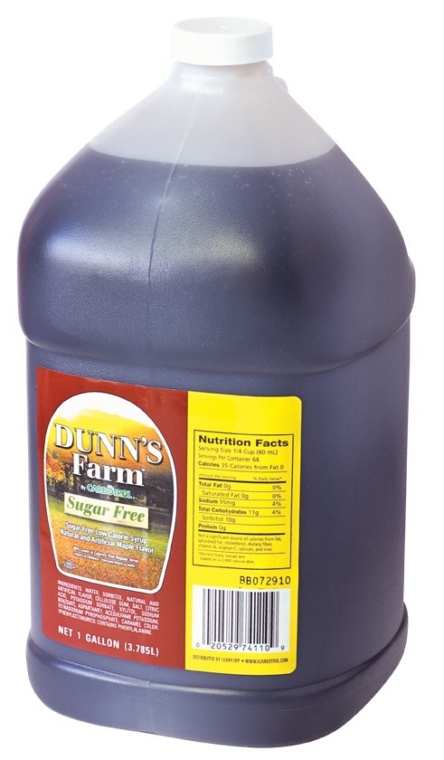 1 Gal. Dunn's Farm Sugar Free Maple Syrup (Case of 4 Pcs.)