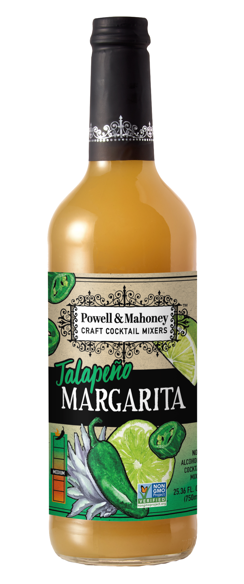 Powell & Mahoney Jalapeno Margarita Mixer - 750mL Bottle