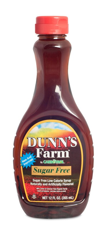 12 OZ. Dunn's Farm Sugar Free Maple Syrup