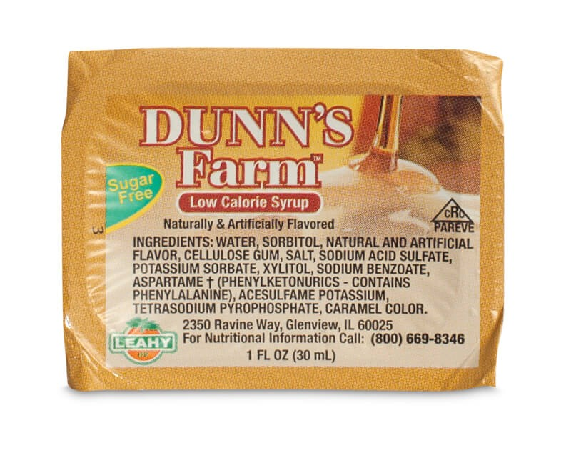 1 oz. Dunn's Farm Portioned Controlled Sugar Free Syrup (Case of 200 Pcs.)