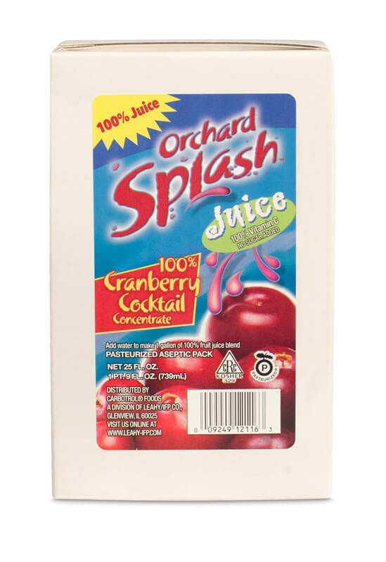 25oz Orchard Splash 100% Cranberry Juice Concentrate