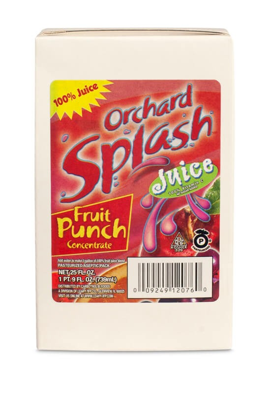25oz Orchard Splash 100% Fruit Punch Concentrate