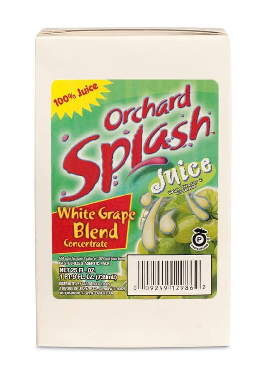 25oz Orchard Splash 100% White Grape Blend Concentrate