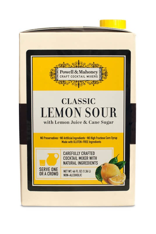 Powell & Mahoney Lemon Sour Mix, 46oz Carton