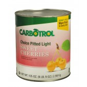 Carbotrol #10 Juice Packed Canned Fruit, Light Sweet Cherries (1 - 105oz Can)