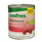 Carbotrol #10 Juice Packed Canned Fruit, Dark Sweet Cherries (1 -105oz Can)