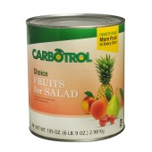 Carbotrol #10 Juice Packed Canned Fruit, Fruits for Salad (1 - 105oz Can)
