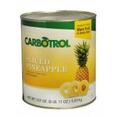 Carbotrol #10 Juice Packed Canned Fruit, Pineapple Slices (1 - 107oz Can)