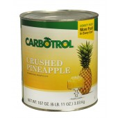 Carbotrol #10 Juice Packed Canned Fruit, Crushed Pineapple (1 - 107oz Can)