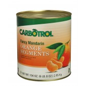 Carbotrol #10 Juice Packed Canned Fruit, Mandarin Oranges (1 - 104oz Can)