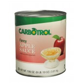Carbotrol #10 Juice Packed Canned Fruit, Applesauce (1 - 106oz Can)
